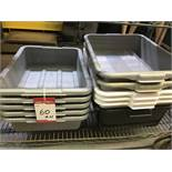 LOT OF BUSSING TRAYS - 11PCS