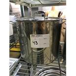 LARGE POT STAINLESS STEEL COOKING POT W/LID