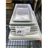 LOT OF WHITE CERAMIC SERVING PLATES