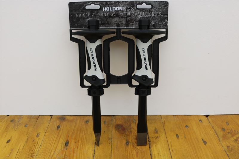 Lot 24 - 10 x HOLDON BLACK 2 Piece Chisel and Point Set