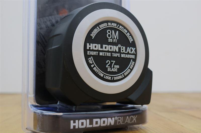 10 x HOLDON BLACK Heavy Duty 8M Tape Measure