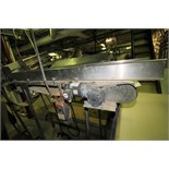 """~8 ft. L Conveyor System with 18"""" W Intralox Conveyor with Flights, Side Rails & Electric Drive,"""