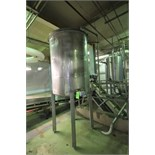 ~500 Gal Vertical Single Wall S/S Tank with Hinged Lid, S/S Legs, Rosemont Level Sensor, (Tank