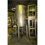 ~500 Gal Vertical Single Wall S/S Tank with Hinged Lid, S/S Legs, Rosemont Level Sensor with