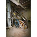 """~7 ft. 6"""" H S/S Tank Platform Stairs with ~30"""" W x 24"""" L Platform & Handrail, (Used with Lot 59"""