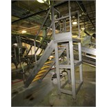 """~6 ft. 4"""" H S/S Tank Platform Stairs with ~30"""" W x 24"""" L Platform & Handrail, (Used with Lot 55"""
