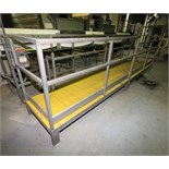 "~16 ft. L x 34"" W x 17"" H S/S Inspection / Operators Platform with Plastic Grating & Handrail"