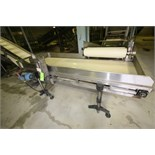 """~8 ft. 9"""" L S/S Inspection Conveyor System, with 34 1/2"""" W Belt with, S/S Siderails, SEW Electric"""