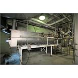 "Rietz ~20 ft. L x 30"" W x 35"" D Single Screw Steam Cooker / Blancher, Model TL-30-K2220, S/N TL-"