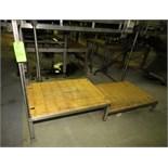 "~8 ft. L x 3 ft. W 2 - Level S/S Inspection / Operators Platform, 18"" & 11"" H with Plastic Grating &"