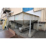 """~13 ft. L x 11 to 14 ft. W S/S Vegetable Receiving Hopper with Safety Guard, with 14 ft. L x 16"""" W"""