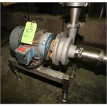 """Ampco 5 hp Centrifugal Pump, Model DC2, with 2-1/2"""" x 2"""" Clamp Type S/S Head, Marathon 3460 RPM"""