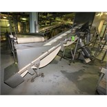 """~13 ft. 9"""" L S/S Inclined Conveyor System, with 18"""" W Intralox Belt with 12"""" Flights, S/S Siderails,"""