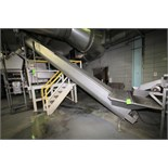 """~18 ft. 9"""" Inclined Screw Auger Conveyor System with 18"""" All S/S Auger, 5 hp / 1680 RPM Electric"""
