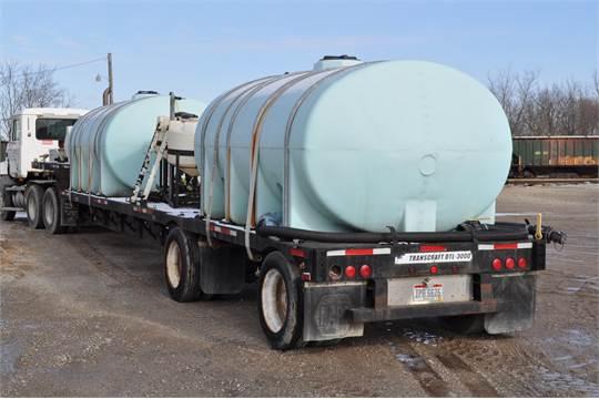 48' 2002 Transcraft sprayer tender trailer, spread axle, air