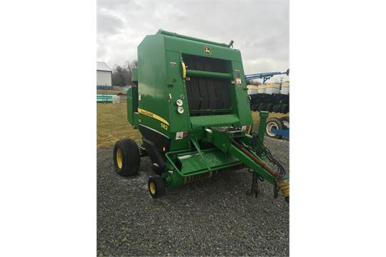 2009 JD 582 Round Baler, twine and net wrap, 540 PTO, Silage