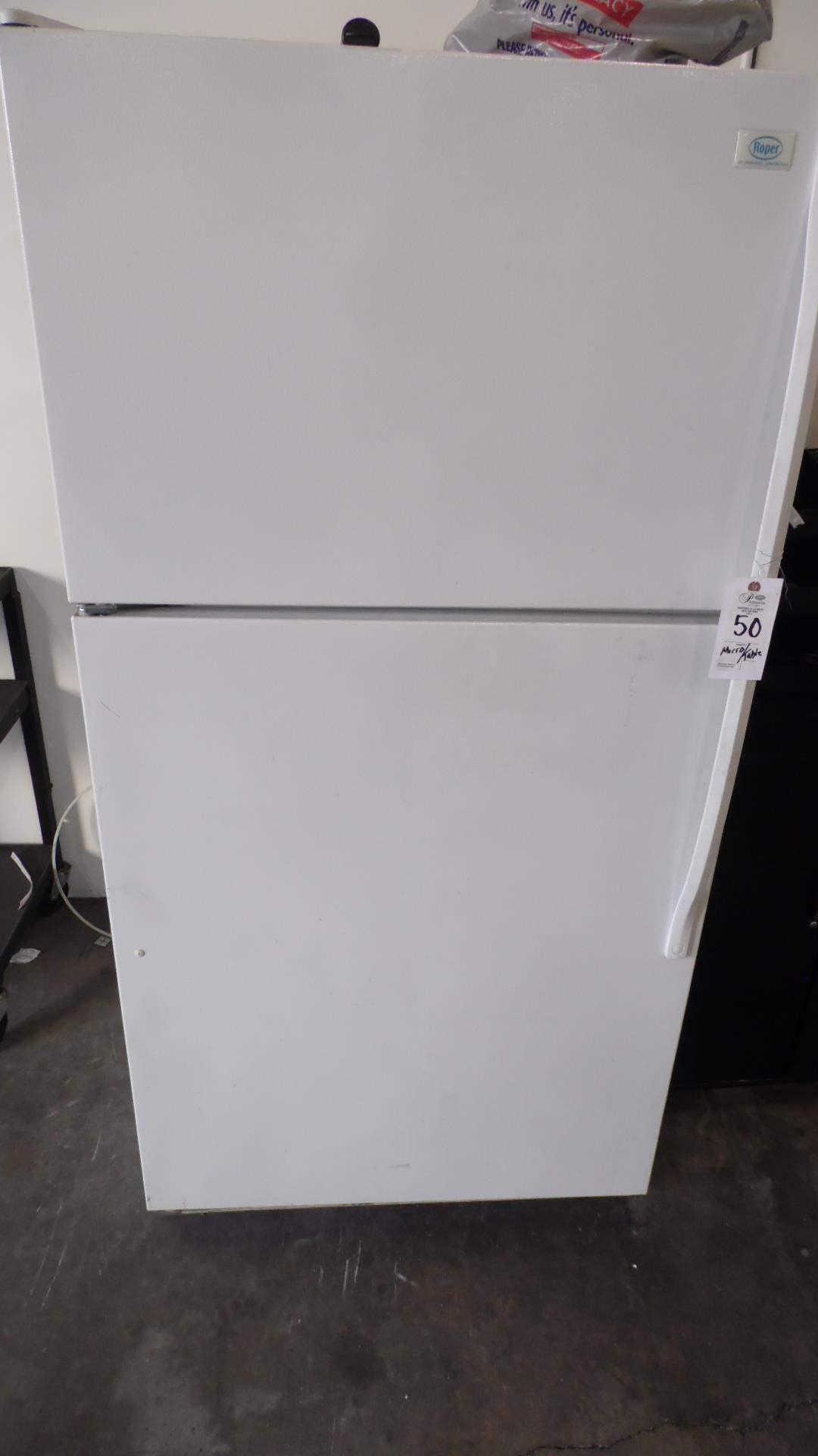 Lot 50 - REFRIGERATOR / TOASTER OVEN / MICROWAVE