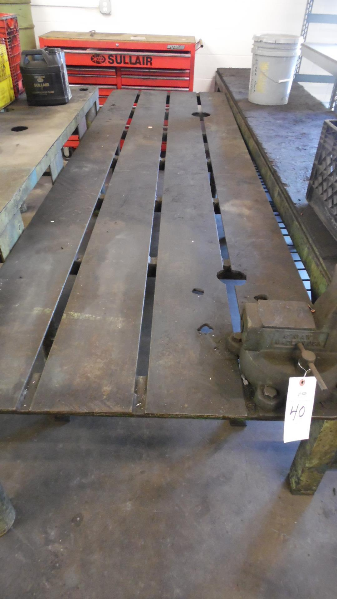 Lot 40 - 9 FT. TABLE w/ VISE