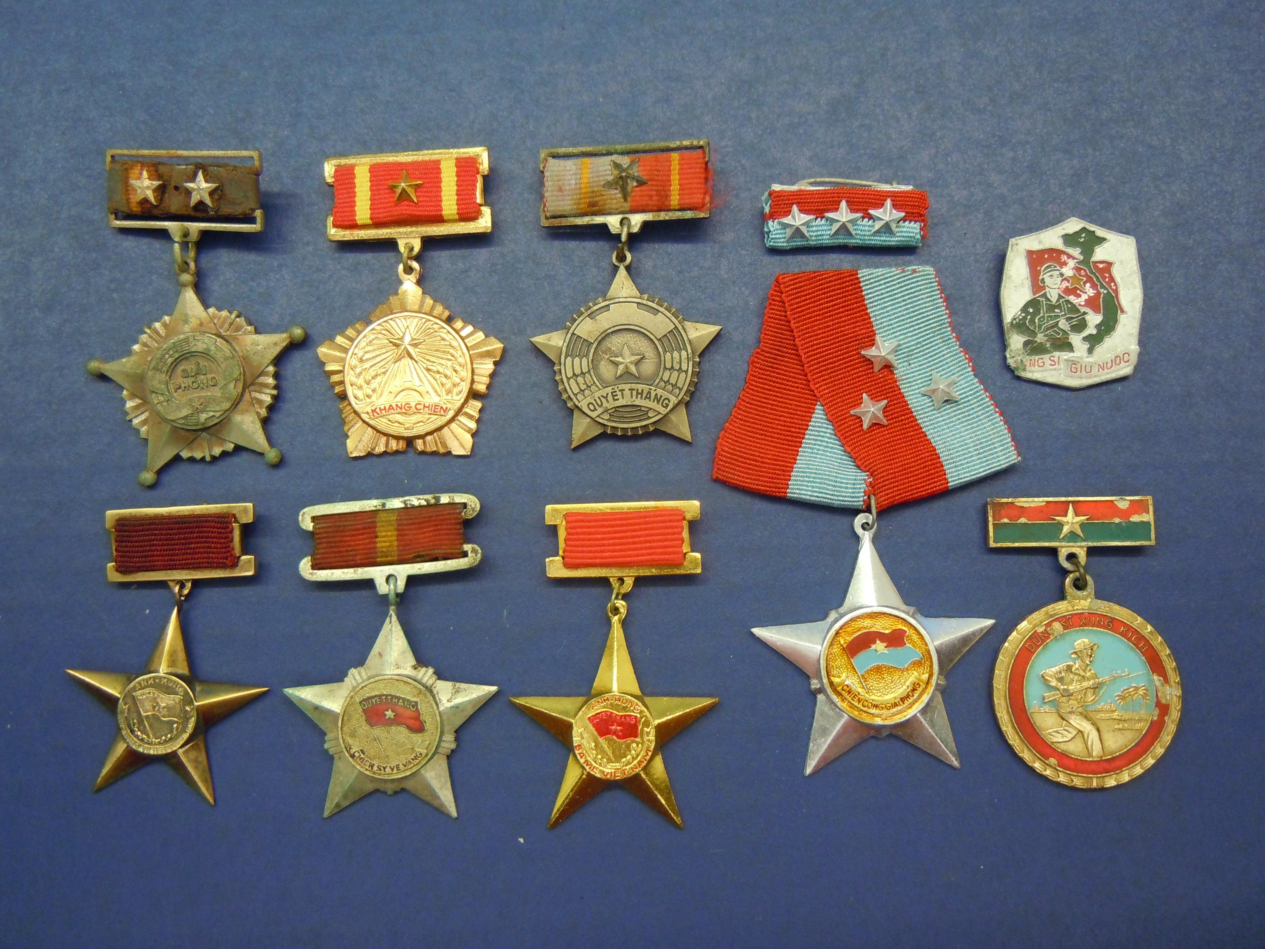 Vietnam War Viet Cong Medals Including: Soldier of Liberation 1st