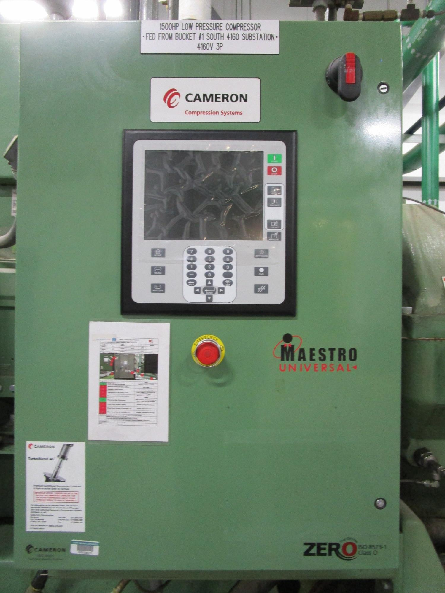 2010 Cameron 1,500 HP Low Pressure Compressor, Turbo-Air 9000 s/n 16900, True Oil F | Rig Fee: $4000 - Image 3 of 13