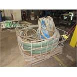 (1) Sandpiper Diaphragm Pump w/ Hose in Metal Frame Bin | Rig Fee: $25