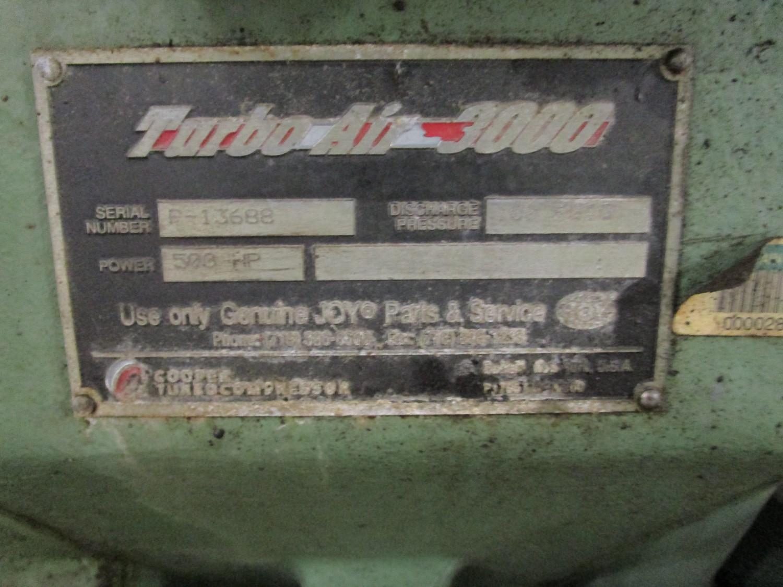Joy 500HP High Pressure Compressor, Turbo Air 3000 s/n P-13688, Discharge Pressure | Rig Fee: $2500 - Image 7 of 9