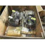 LOT Baldor 2HP Motor, (3) Baldor 5HP Motors, Baldor 1/3HP Motor in Crate | Rig Fee: $25