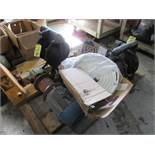 LOT (2) Arc Diaphragm Pumps, Misc. Pumps, 3HP Motor, Hose on Pallet | Rig Fee: $25