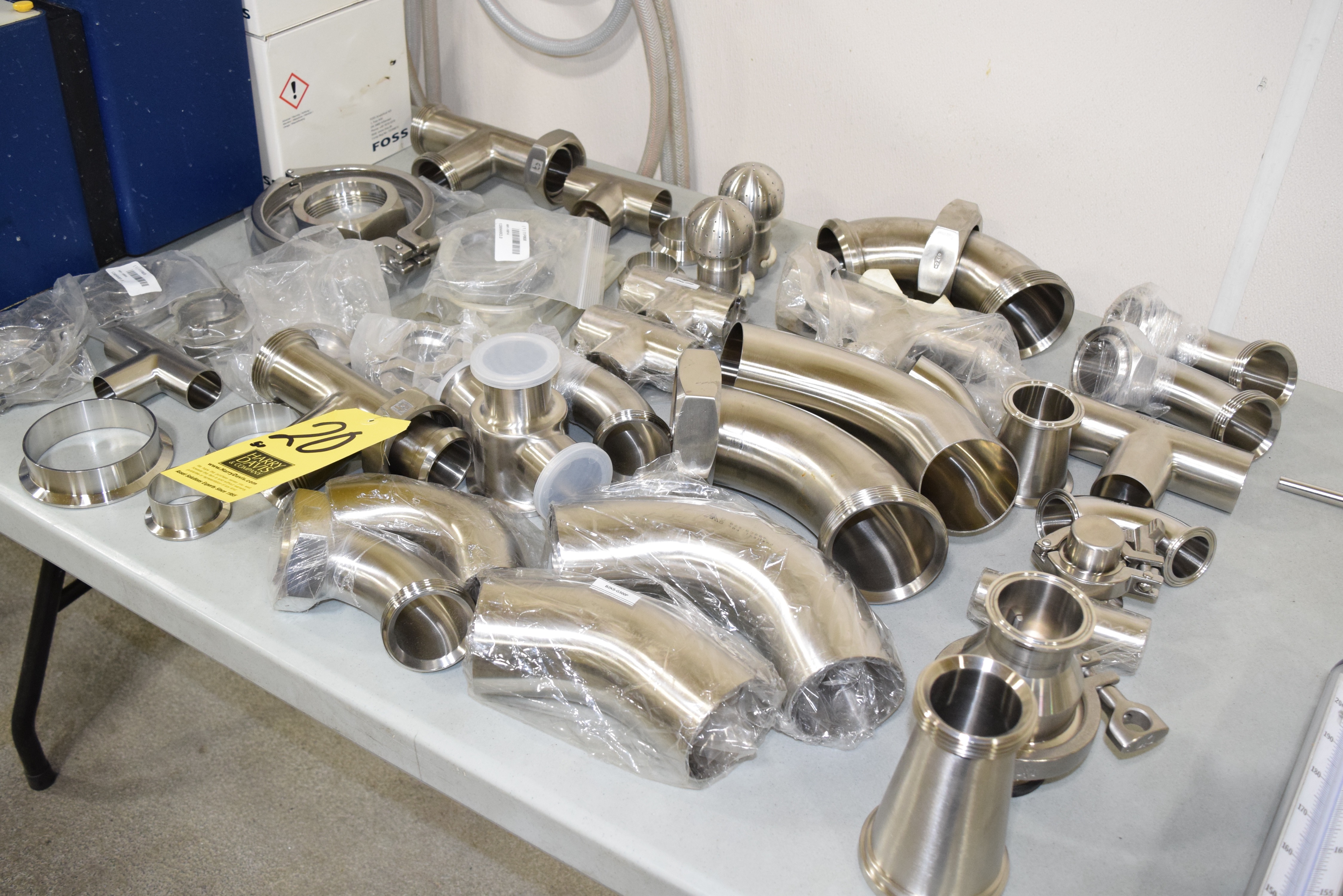 "Lot 20 - (50) NEW Assorted S/S, Tees, Ferrels, Clamps, Elbows and Reducers up to 3"" **Rigging Fee $25"