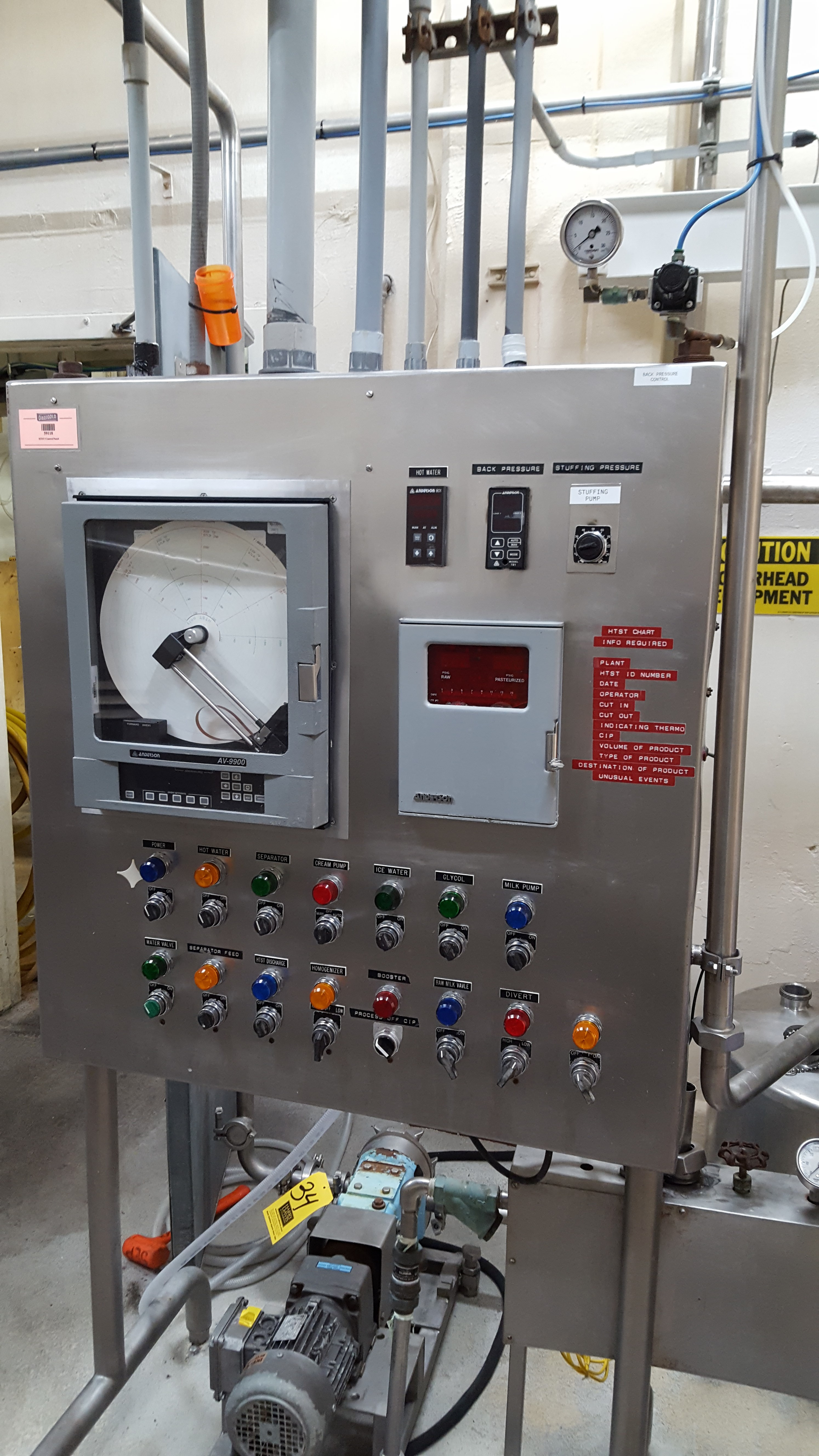 Tetra Pak 3 000 Gph Pasteurization System With Plate Heat