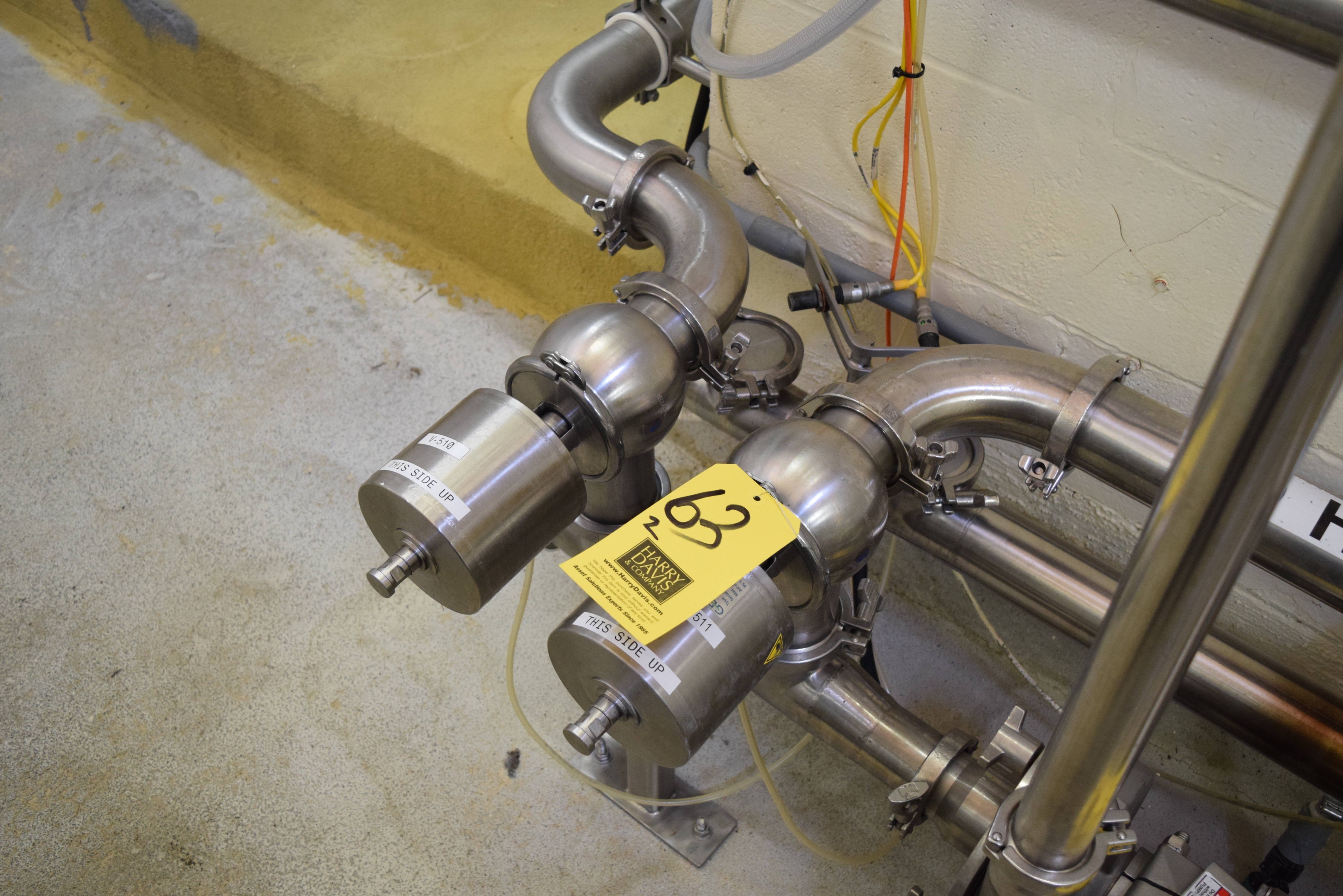 "Lot 63 - GEA 3"" S/S 2-Way Air Valves, Clamp Type, with Clamps **Rigging Fee $50"