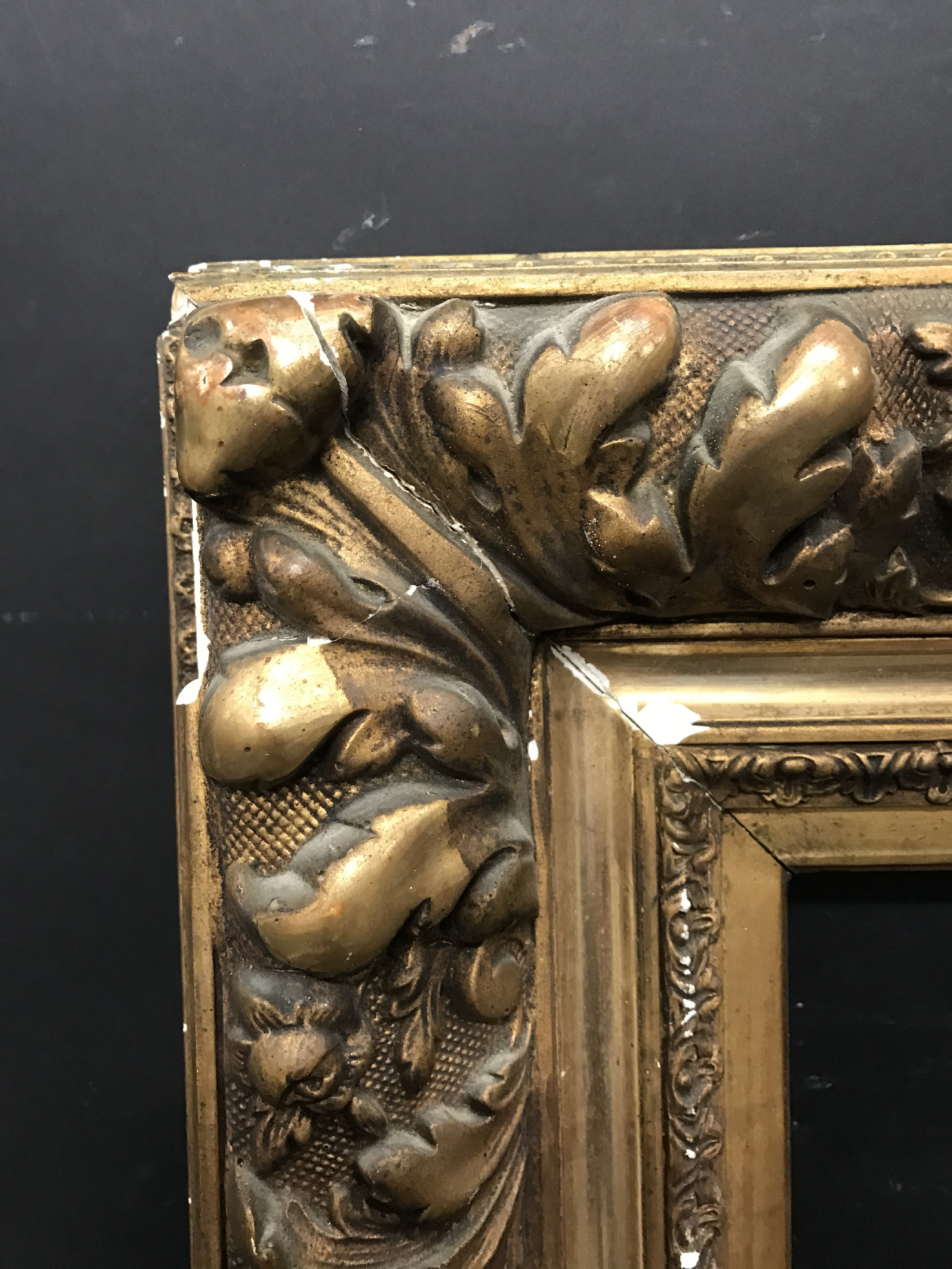 "Lot 47 - 19th Century French School. A Gilt Composition Barbizon style Frame, 21.5"" x 15"" (rebate)."