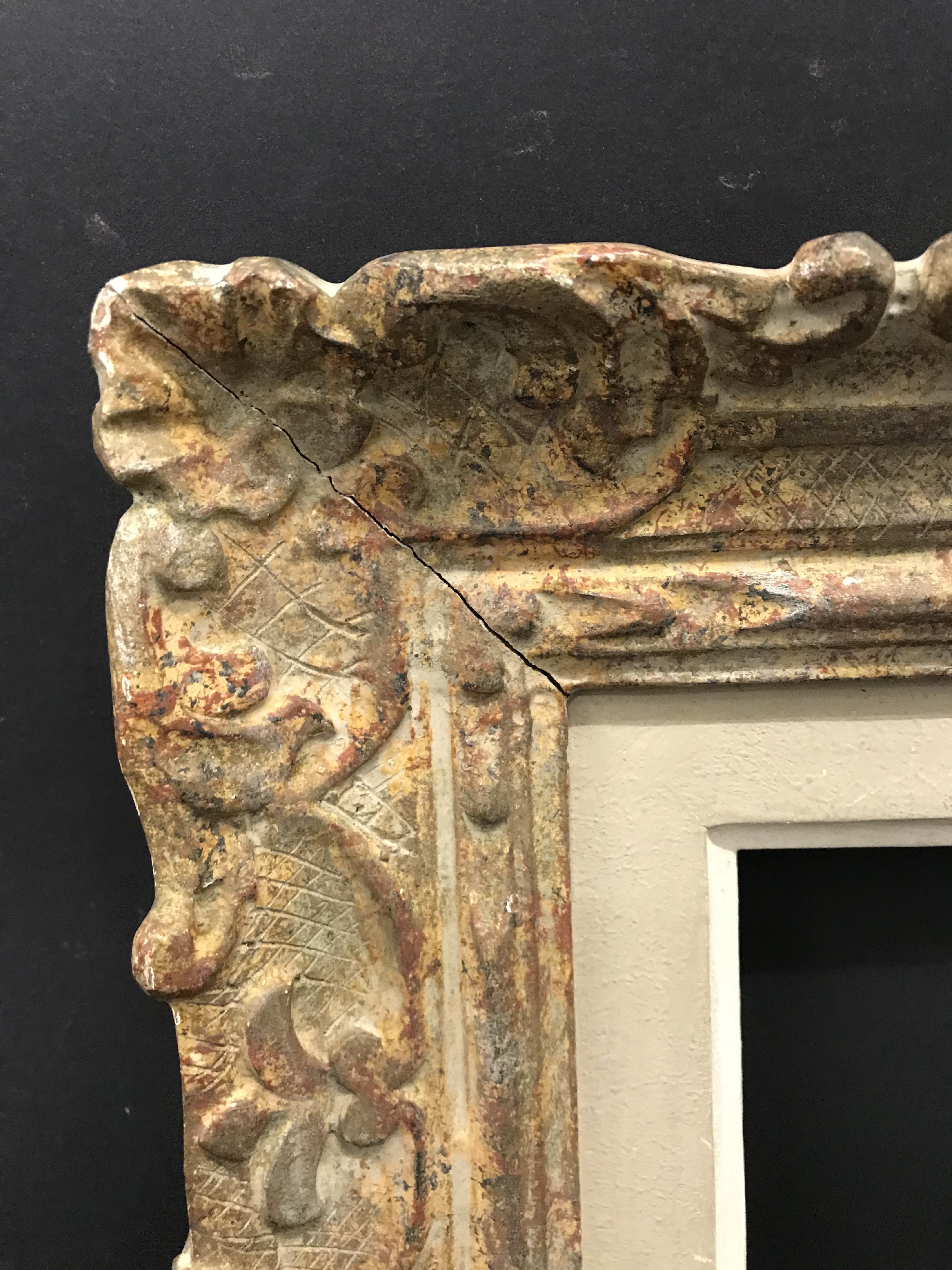 "Lot 42 - 20th Century French School. A Carved Wood Painted Frame, 10.5"" x 7.75"" (rebate)."