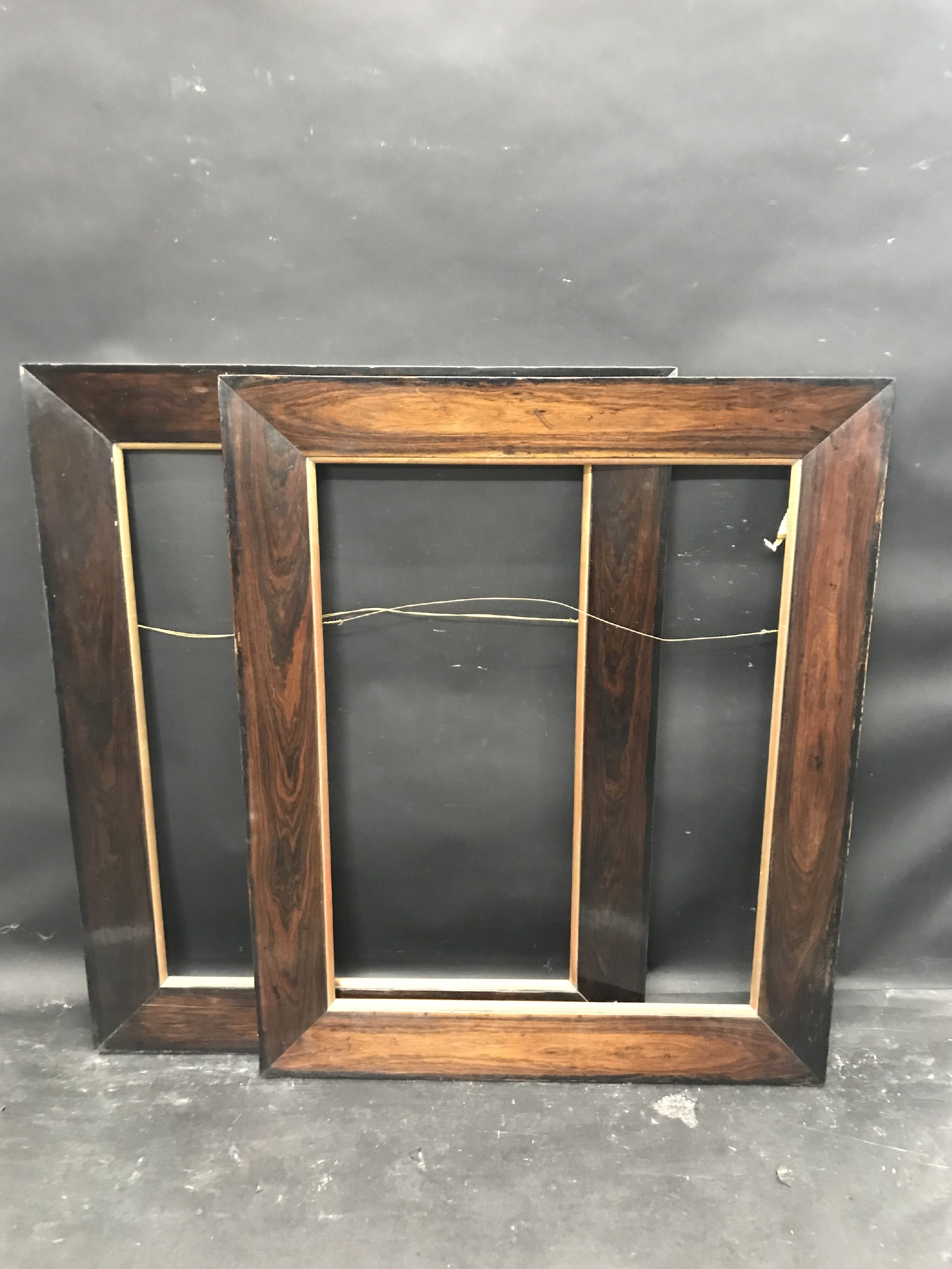 """Lot 55 - 20th Century English School. A Darkwood Frame, with a Gilt Slip, 30"""" x 23.5"""" (rebate), and a"""