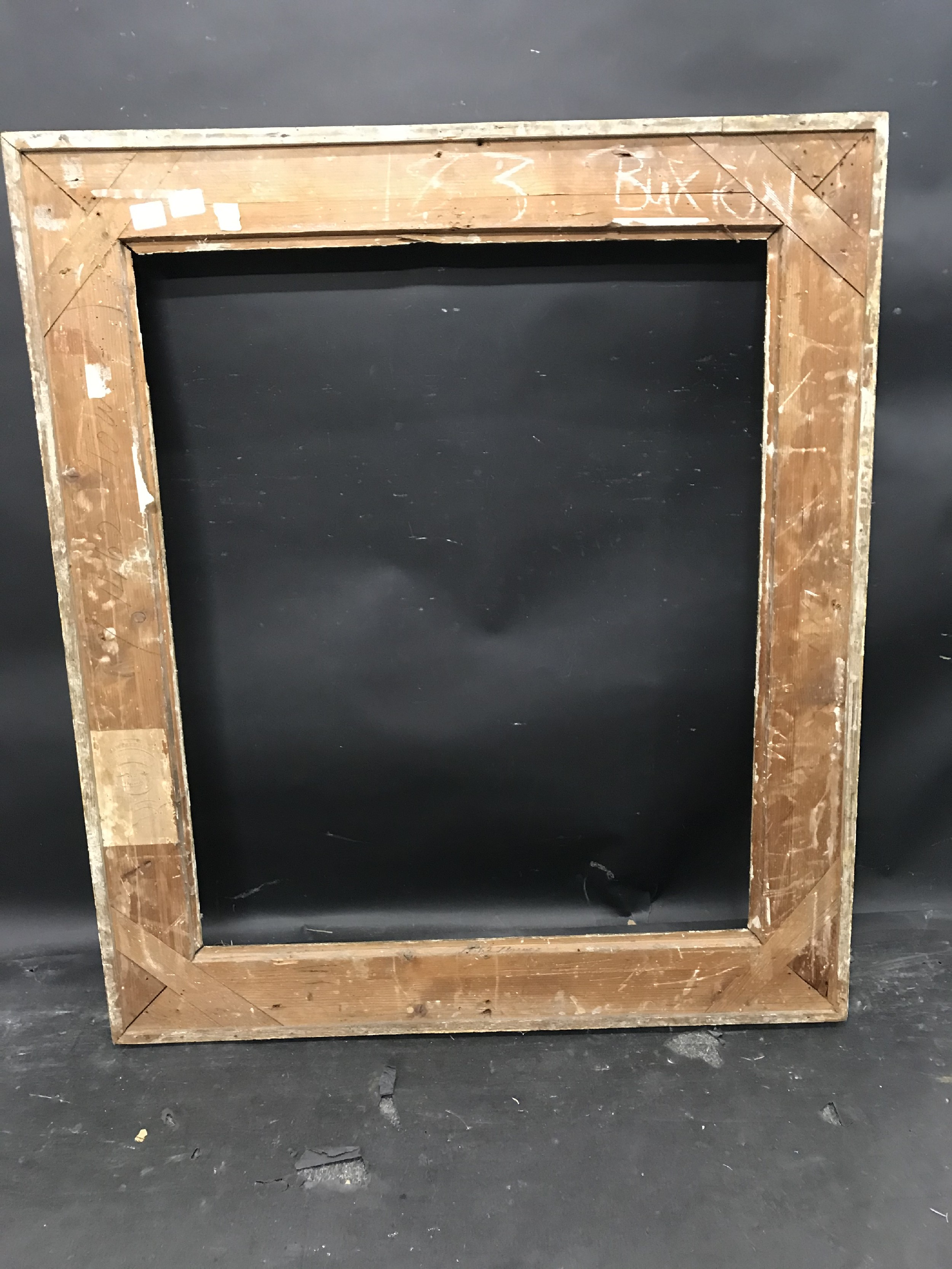 """Lot 2 - 19th Century English School. A Gilt Composition Hollow Frame, 30"""" x 25"""" (rebate)."""