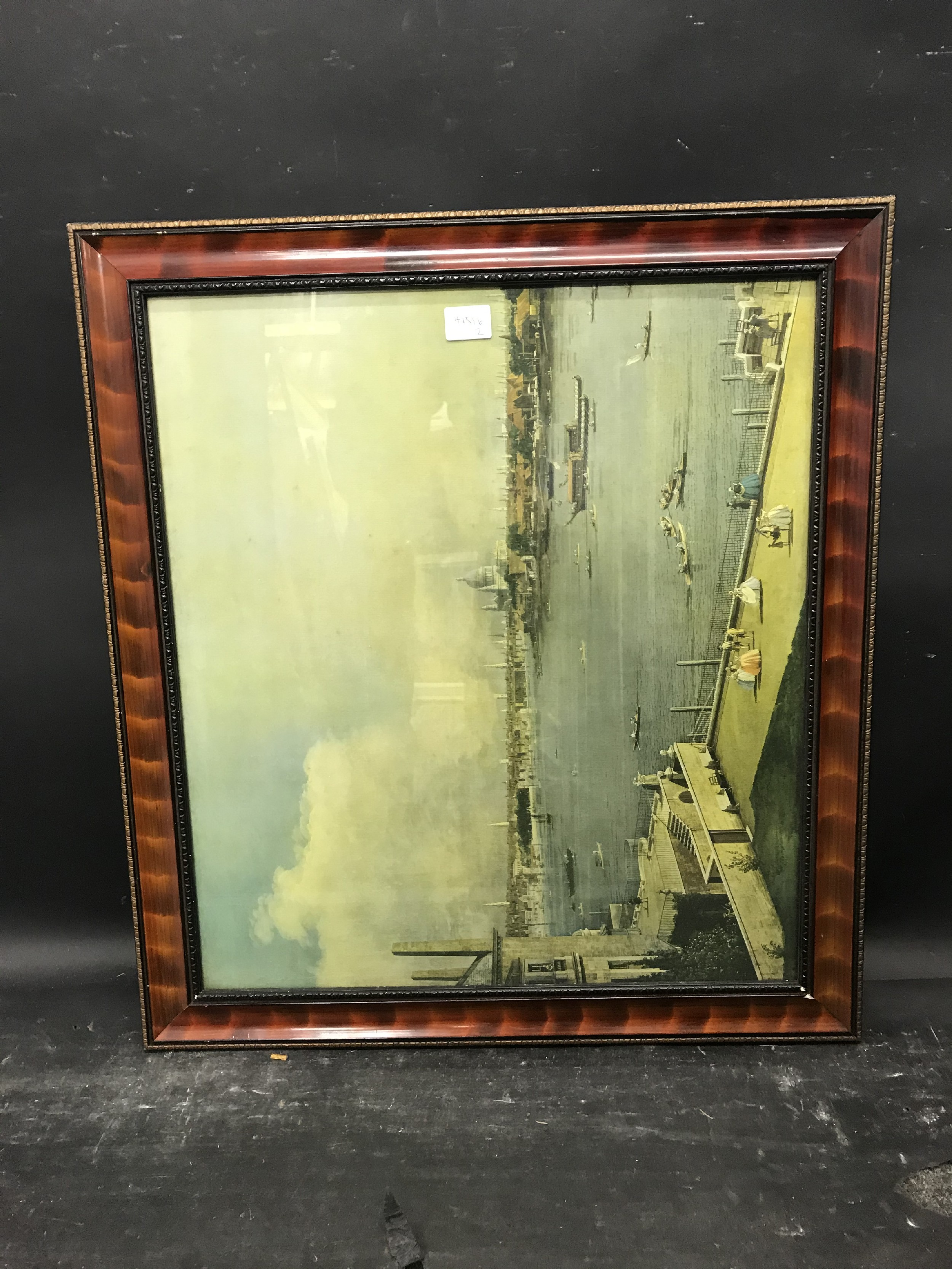 "Lot 60 - 20th Century English School. A Simulated Tortoise shell Style Frame, with inset print, 21"" x 18."