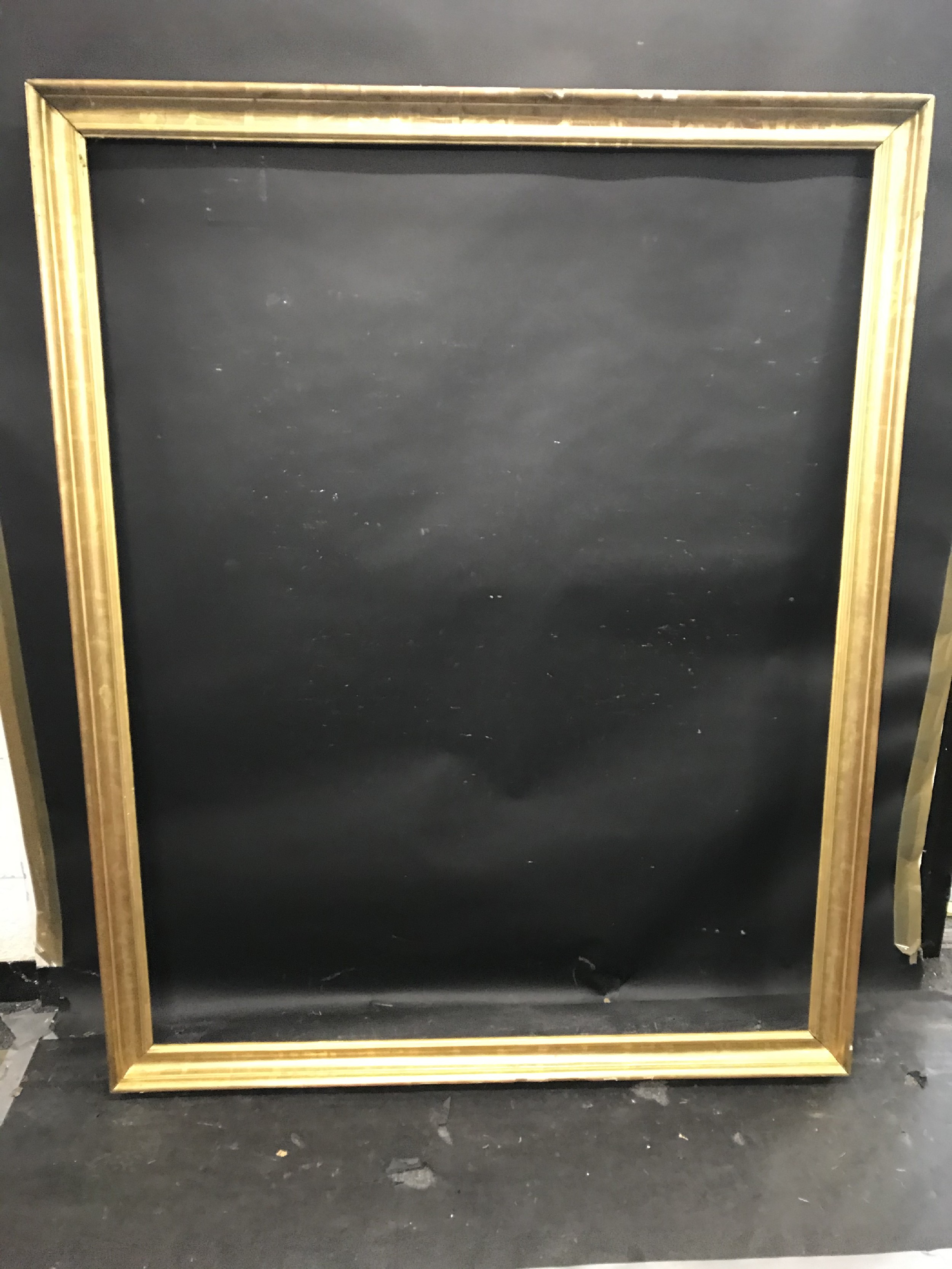 """Lot 1 - 19th Century English School. A Gold Leaf Composition Frame, 55"""" x 44"""" (rebate)."""