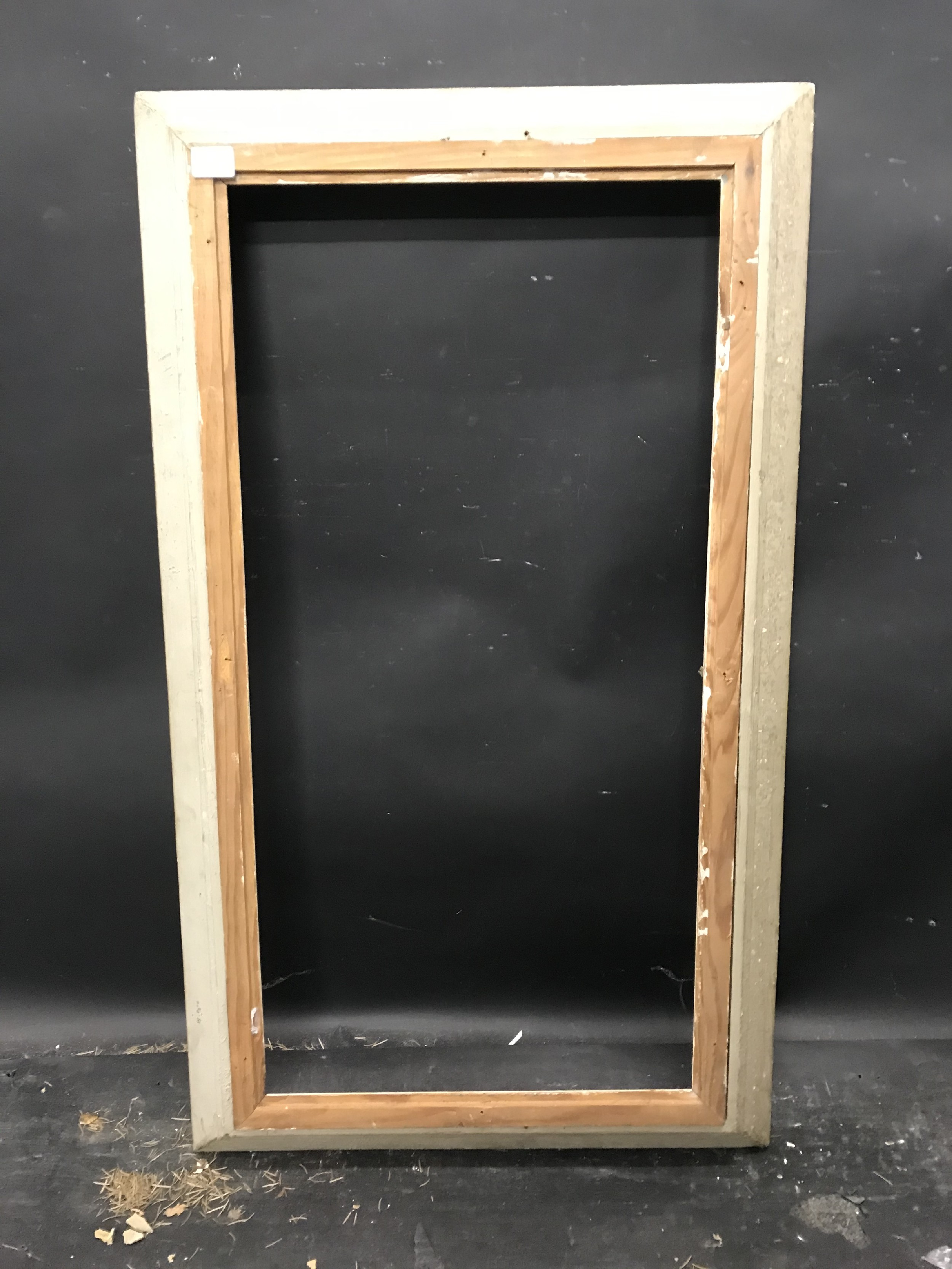 """Lot 40 - 20th Century French School. A Carved Wood Painted Frame, 31.5"""" x 15.75"""" (rebate)."""