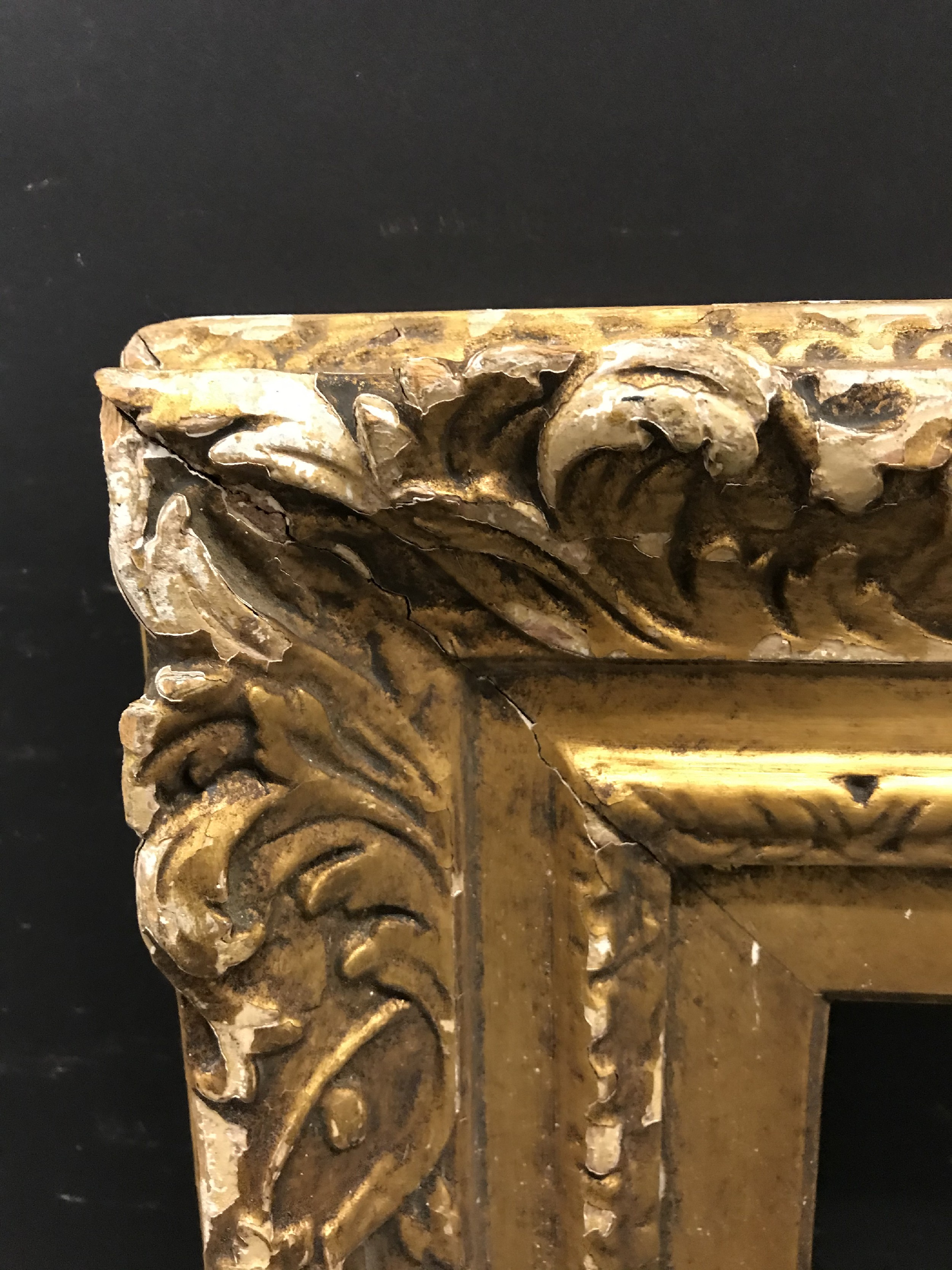 """Lot 41 - 18th Century English School. A Carved Giltwood Frame, 22.5"""" x 17"""" (rebate)."""