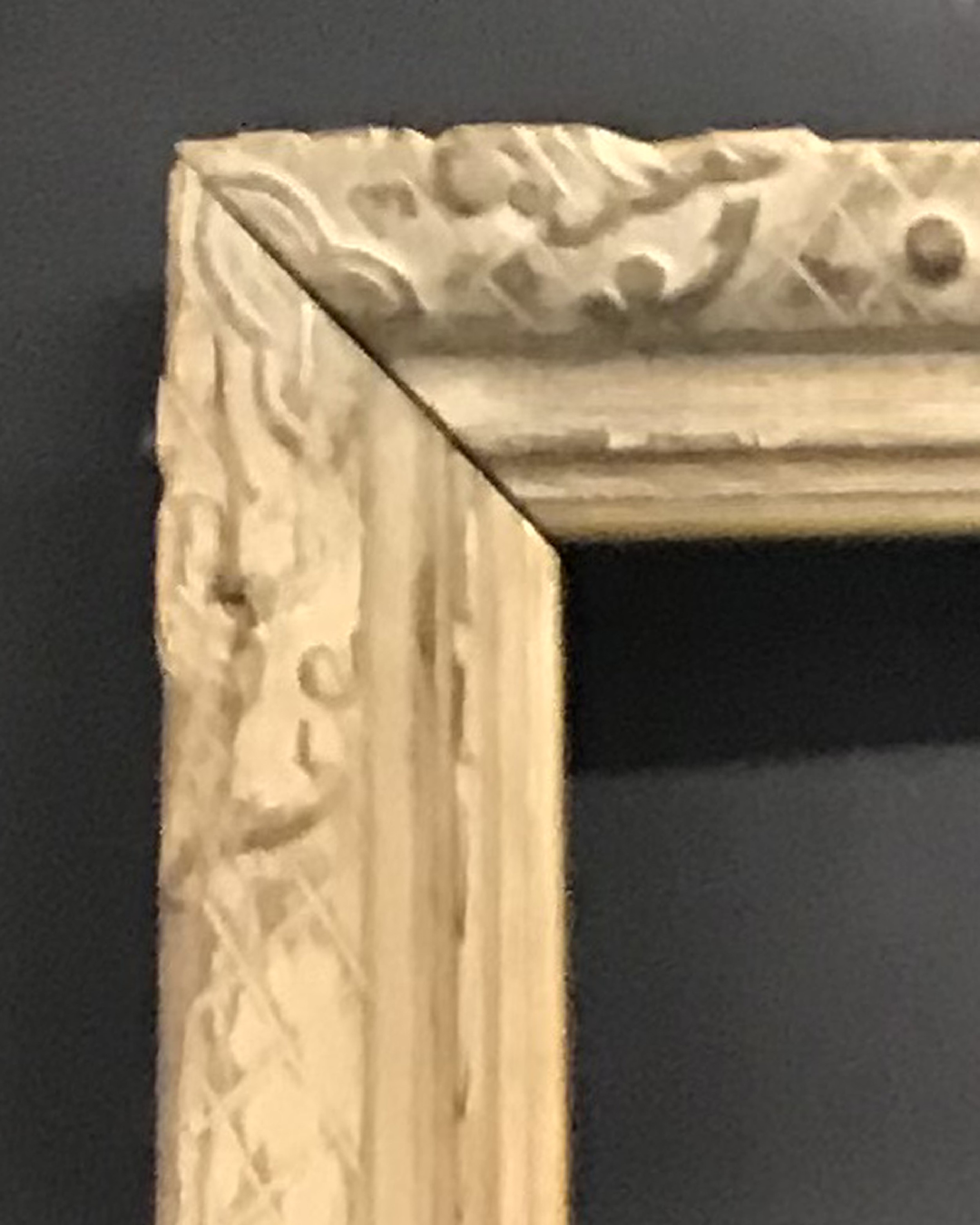 """Lot 24 - 20th Century French School. A Carved Wood Painted Frame, 70.25"""" x 39.75"""" (rebate)."""
