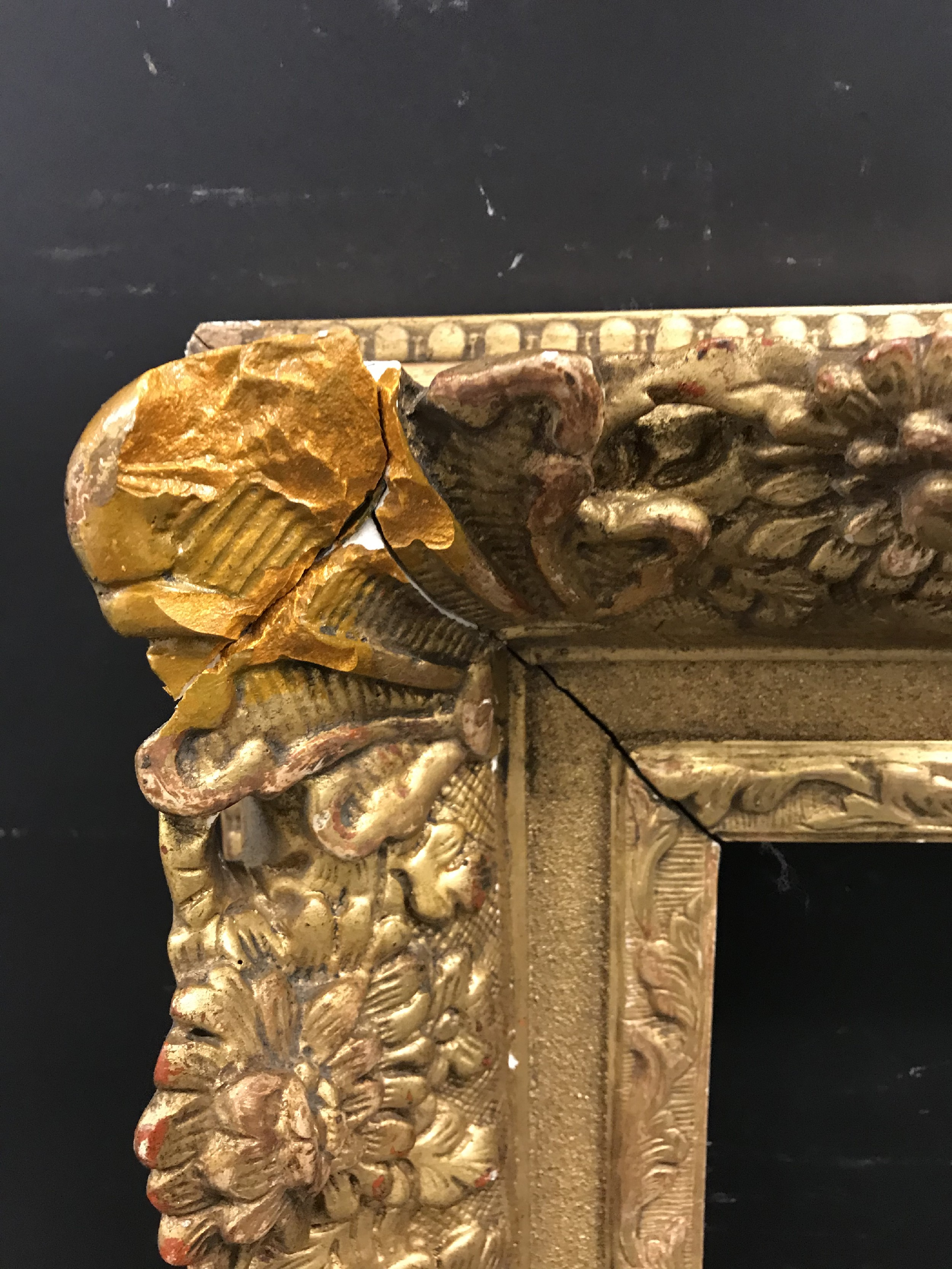 Lot 4 - 19th Century French School. A Louis Style Gilt Composition Frame, with swept and pierced corners,