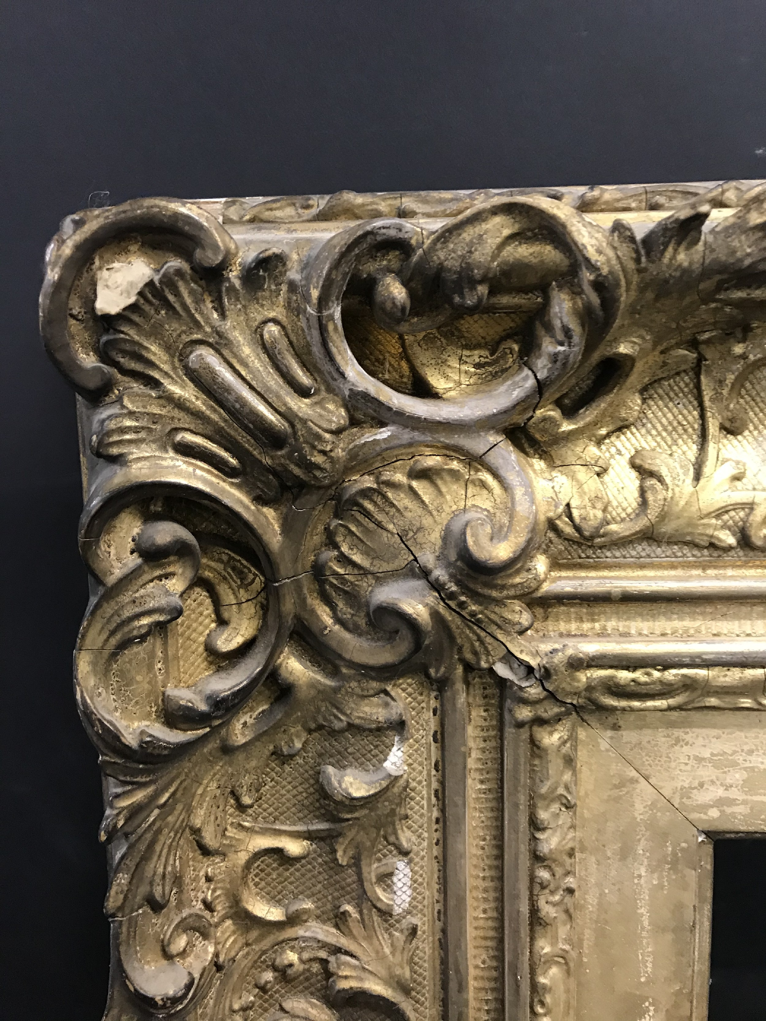 """Lot 15 - 19th Century English School. A Gilt Composition Frame, with swept centres and corners, 44.5"""" x 34.5"""""""