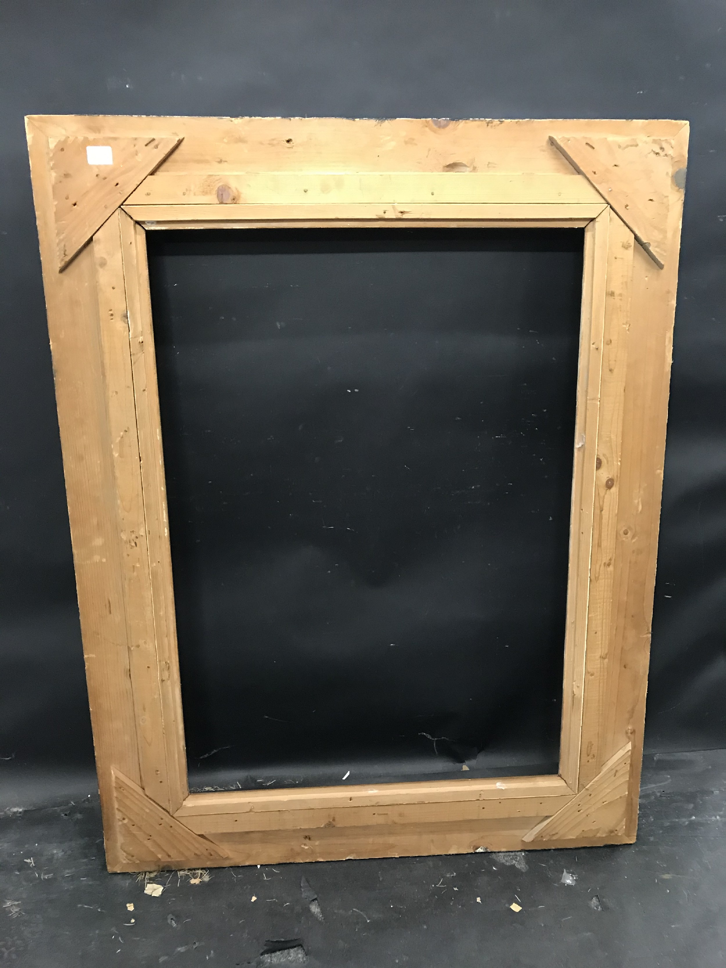 "Lot 21 - 20th Century Continental School. A Black Composition Frame, with inner gilt slip, 36.5"" x 25.5"" ("