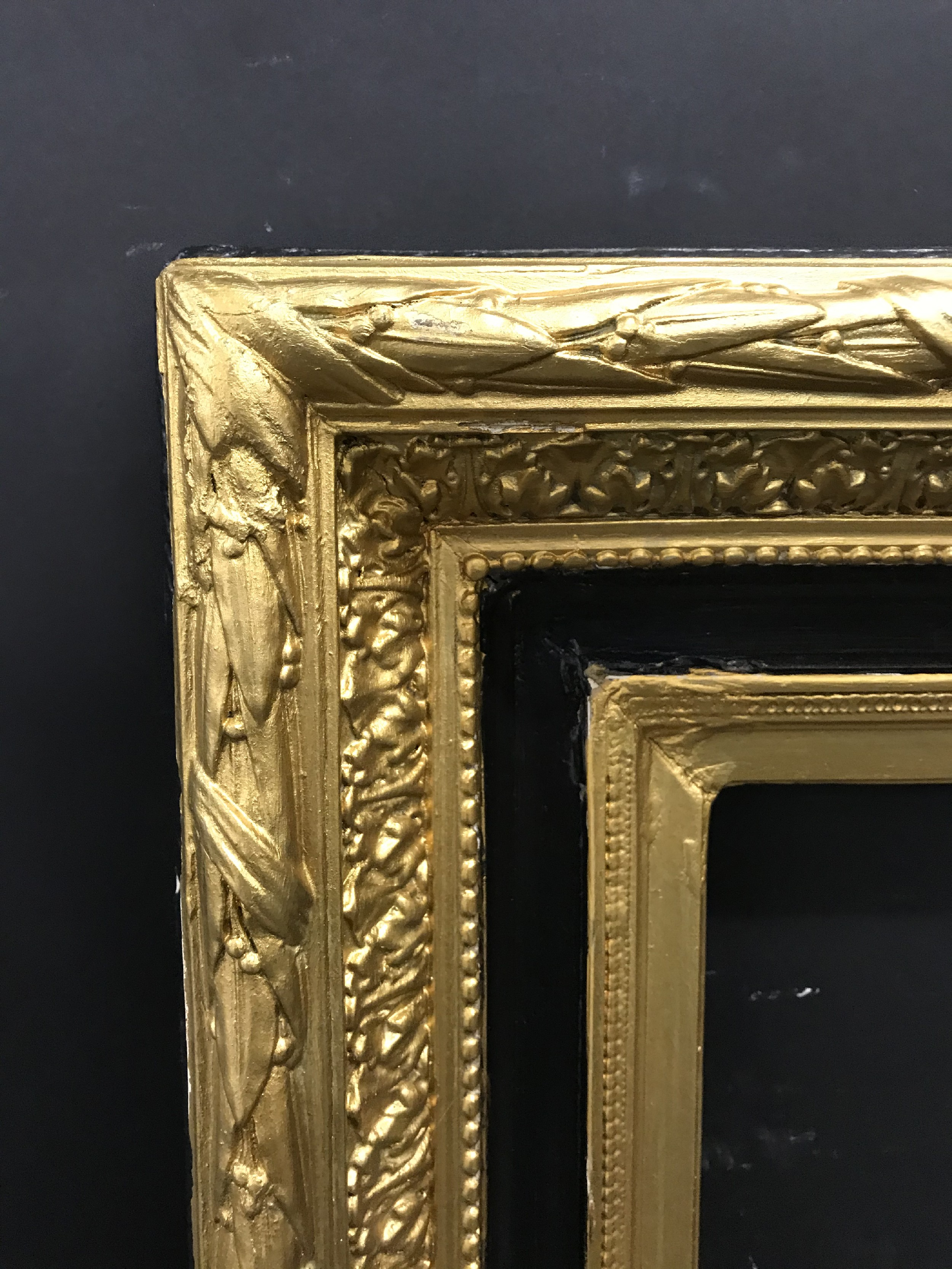 "Lot 19 - 19th Century English School. A Gilt Composition Frame, with black inner and outer edges, 37"" x 29.5"""