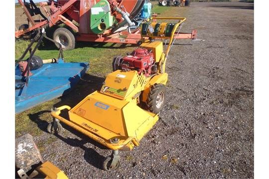 Turner Trojan mower with flail attachment and 12 5HP Kohler