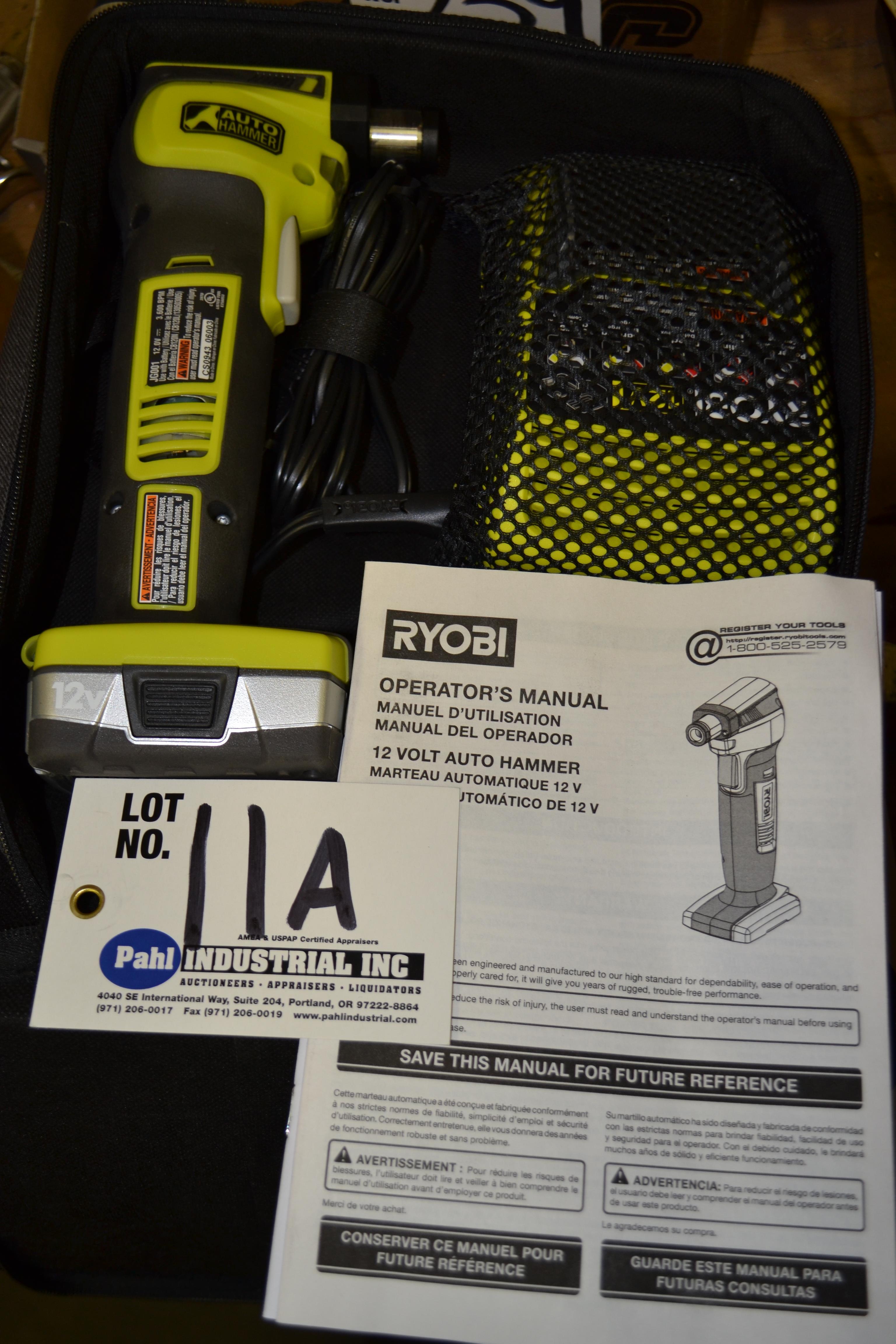 Ryobi JGC01 Cordless Auto Hammer