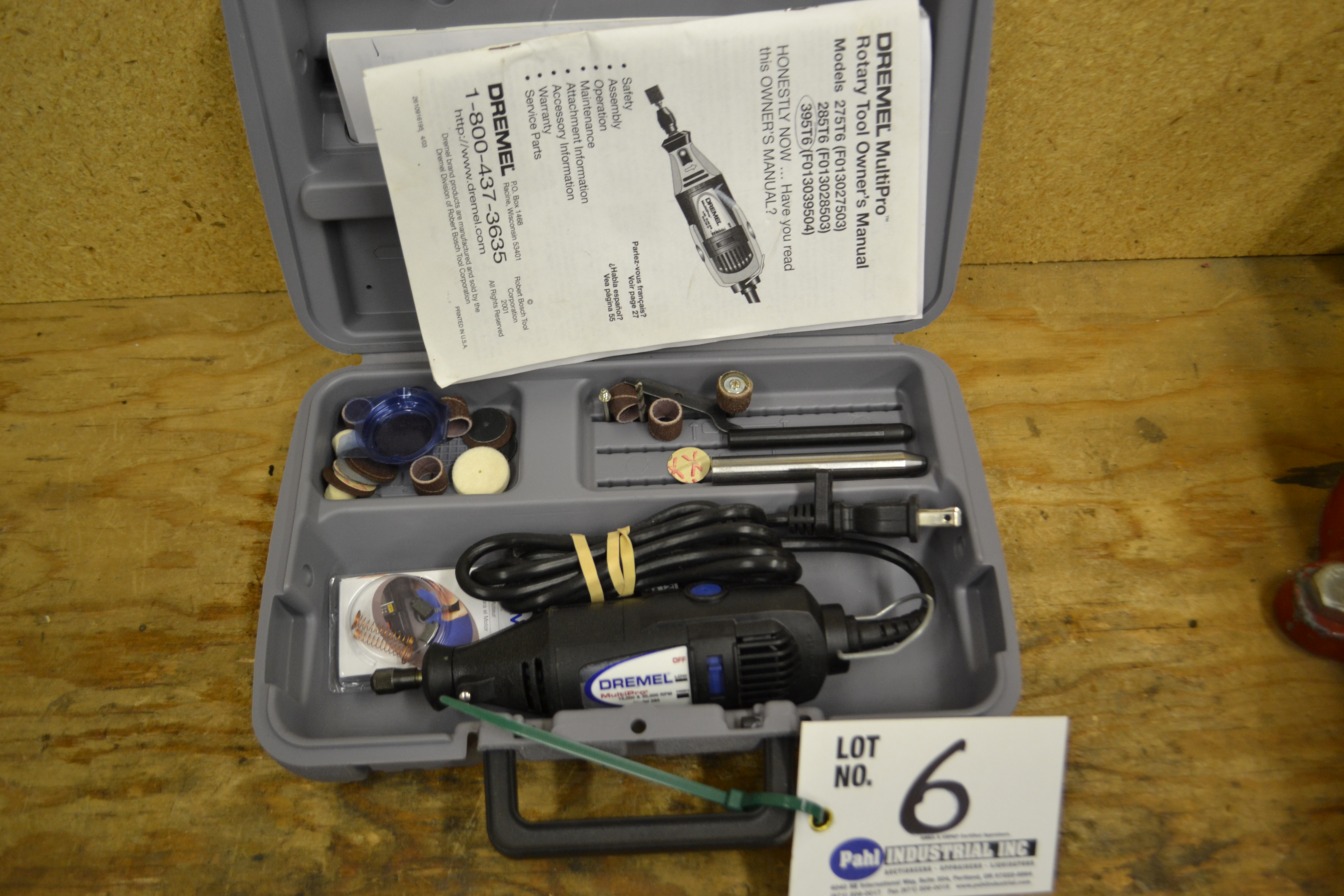 Dremel Multipro Model 395T6 Rotary Tool with attachments in box