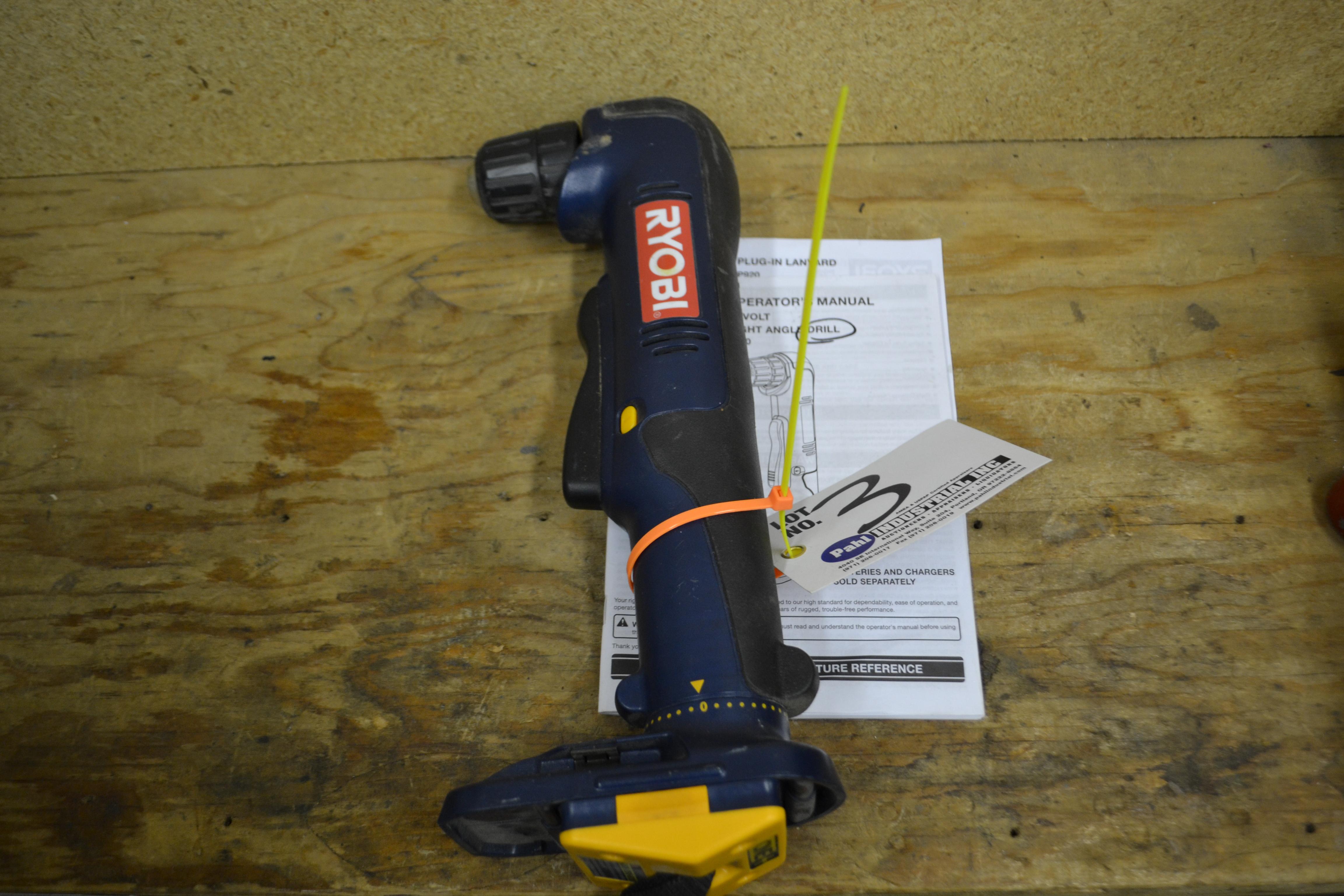 Ryobi P240 Right Angle Drill Cordless 18V with Battery