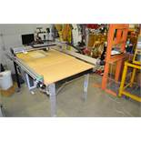 6' x 38'' x 31'' CNC Router c/w Bosch Router, Adjustable Track