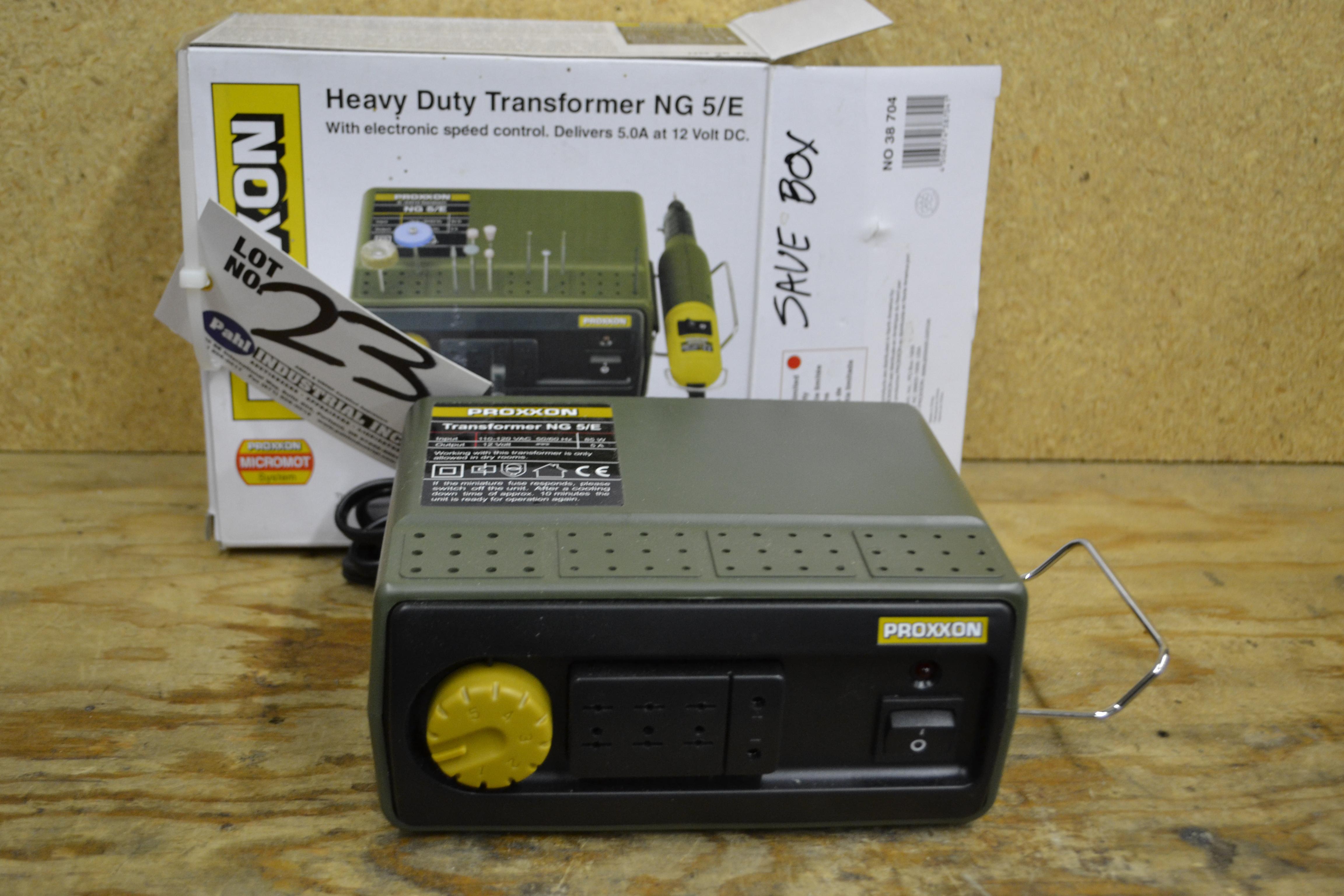 Proxxon Heavy Duty Transformer NG 5/E, Delivers 5.0A at 12V